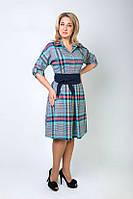 Деловое женское платье из турецкой ткани
