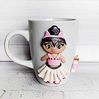 Детская чашка Кукла LOL  Подарок девочке