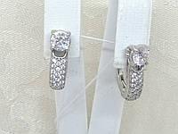 Срібні сережки Панянка з фіанітами. Артикул 2120/9Р-CZ, фото 1
