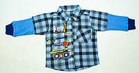 Стильная рубашка  на мальчика 3-6 месяцев, фото 1