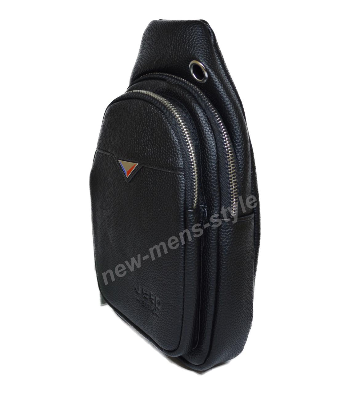 0f5314d1e000 Мужская спортивная кожаная сумка слинг рюкзак бананка Jeep BULUO, ...