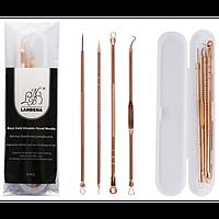 Профессиональный набор инструментов для удаления угрей, черных точек и прыщей