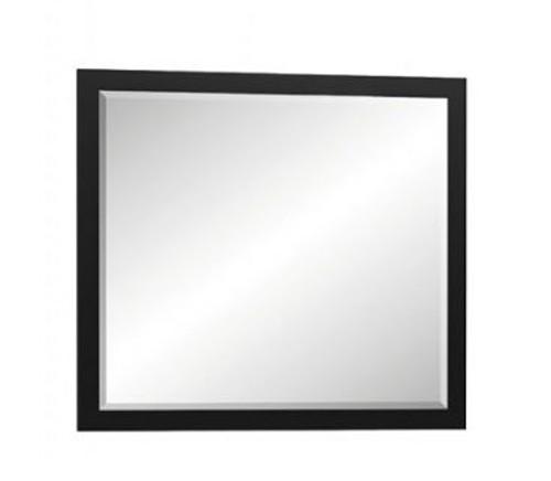 Прямоугольное зеркало Фиеста (черное)