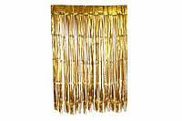 Шторка занавес из фольги для фото зон  золото штора   1х3 метра