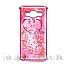Силиконовый чехол Beckberg Aqua для Samsung Galaxy A6 2018 (A600) Hearts Pink