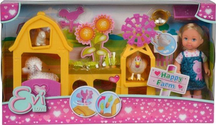 Кукольный набор Simba Эви Счастливая ферма с аксессуарами 5733075