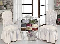 Чехлы на стулья, 6 шт. Golden - Турция белый