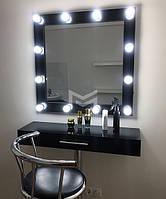 Раздельное место визажиста Mia light в ЧЕРНОМ цвете с хромированной ножкой, фото 1