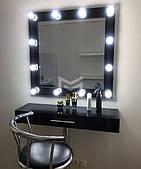 Раздельное место визажиста Kylie в ЧЕРНОМ цвете с хромированной ножкой