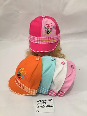 Детская летняя кепка для девочки р.50 100% cotton, фото 2