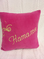 Подушка з оригінальною вишивкою