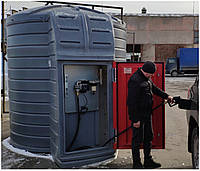 Резервуар 10тон с мини АЗС PIUSI Италия 220В 56л/мин с элект.счетчиком и сепаратором воды для дизтоплива