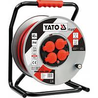 Удлинитель с заземлением на катушке 40 метров 3х2,5мм² Yato YT-8107