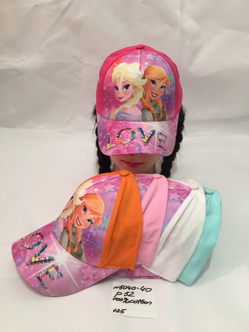 Дитяча літня кепка для дівчинки LOVE р. 52 100% cotton
