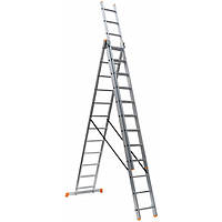 Крок Драбина алюмінієва 3-х секційна 3х11 сходинки (7,57 м)