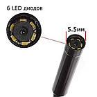 Эндоскоп ALVIVA видеоскоп 5,5мм длина 2м Инспекционная камера Разрешение 960х720 жесткий кабель, фото 7