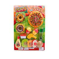 Игровой набор продуктыфастфуд, гамбургер, пицца, пончики, WD-S28