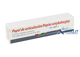 Артикуляционная бумага Бехт, прямая (Alfred Becht), красно-синяя, 144шт./уп.
