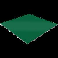 Лист оцинкованный с полимерным покрытием RAL 6005 - 0,4 мм размер листа (1250*2000)