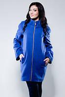 Пальто женское большого размеры , ткань кашемир +подкладка , 4 расцветки ЛЯ №1522