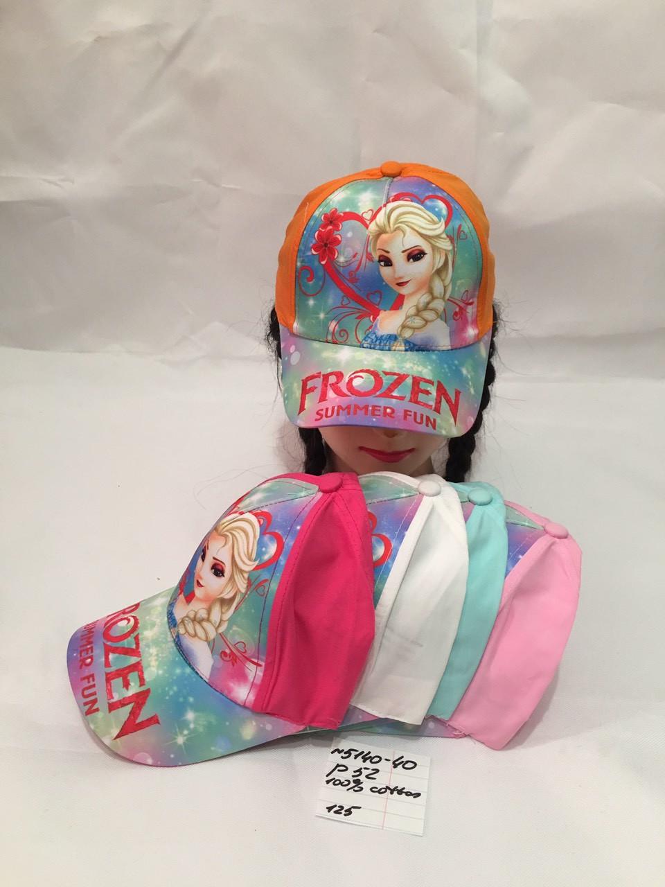 Летняя детская кепка для девочки р.52 100% cotton
