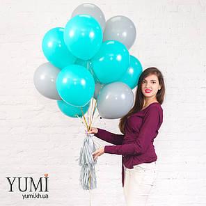 Стильный подарок из 15 шариков с гелием и кисточек тассел, фото 2