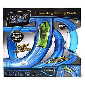 Гоночный трек в трубе Chariots Speed Pipes 37 деталей светящийся игровой набор