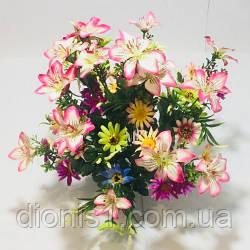 Букет ромашка+орхидея люкс на 54 головы А-231