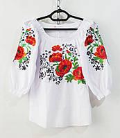 Рубашки-вышиванки рукав3/4 женские (S-2XL) Украина, от 5 шт.