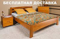 Двуспальная кровать на ножках Милана Люкс Олимп из натурального дерева бука