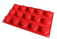 Форма силиконовая планшет (розочки) 15 форм НН-201