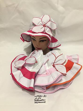 Летняя детская панамка для девочки Ромашка р.54 100% cotton, фото 2