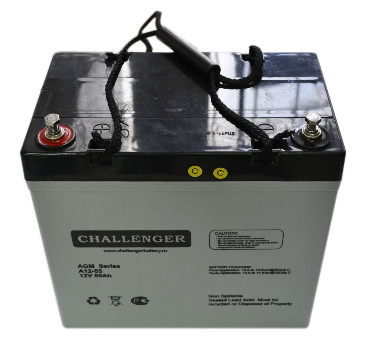 Аккумулятор мультигелевый Challenger A12-55 12V 55AH, (AGM) для ИБП