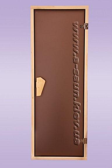 Дверь для сауны, бани  Tesli DC-Sateen (Матовая) 700*2000 мм .