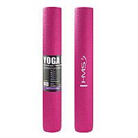 Коврик (мат) для йоги и фитнеса HMS YM01 PVC 3 мм Pink, фото 1