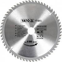 Профессиональный пильный диск по дереву Yato YT-6072 250х30х60зубов