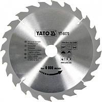 Профессиональный пильный диск по дереву Yato YT-6070 250х30х24зуба