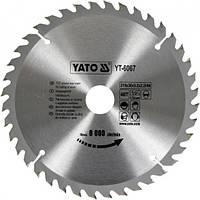 Профессиональный пильный диск по дереву Yato YT-6067 210х30х40зубов