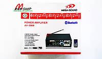 Усилитель звука AV-306B USB + SD + AUX + Bluetooth + Караоке, фото 3