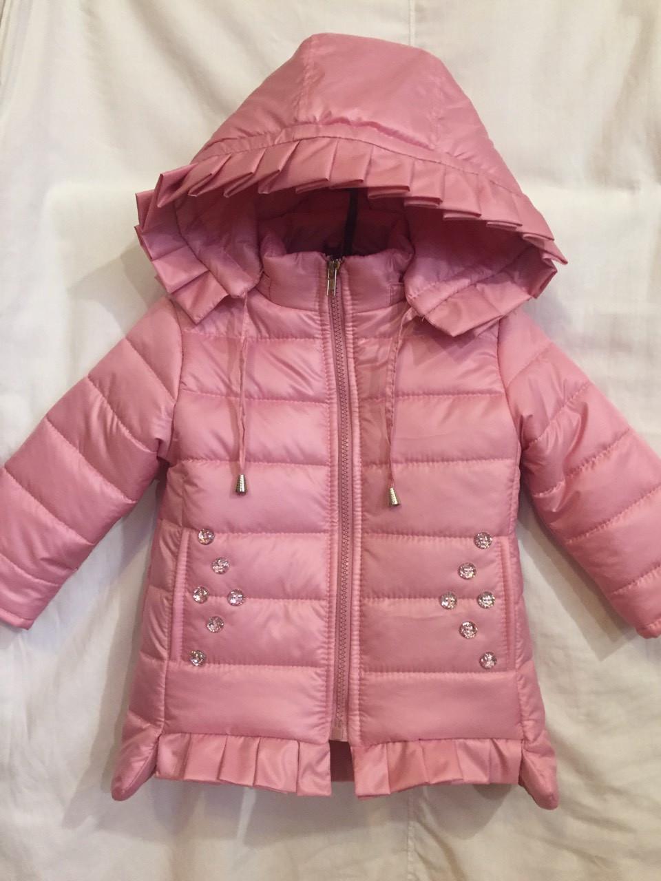 Красива стьобана дитяча демісезонна куртка на дівчинку, р. 80-92