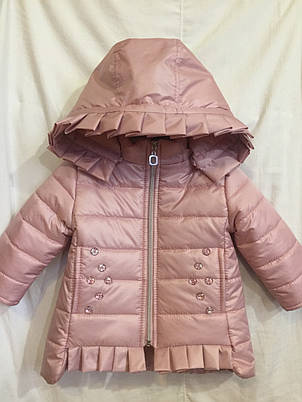 Красива стьобана дитяча демісезонна куртка на дівчинку, р. 80-92, фото 2