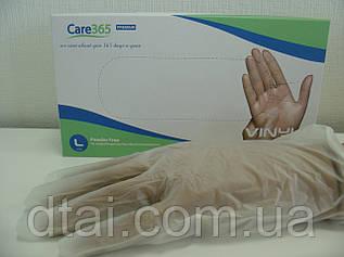 Перчатки виниловые одноразовые Care365 Premium, 100 шт/упак