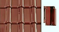 Черепица керамическая Creaton Titania (Креатон Титания) Каштан глазурь, фото 1