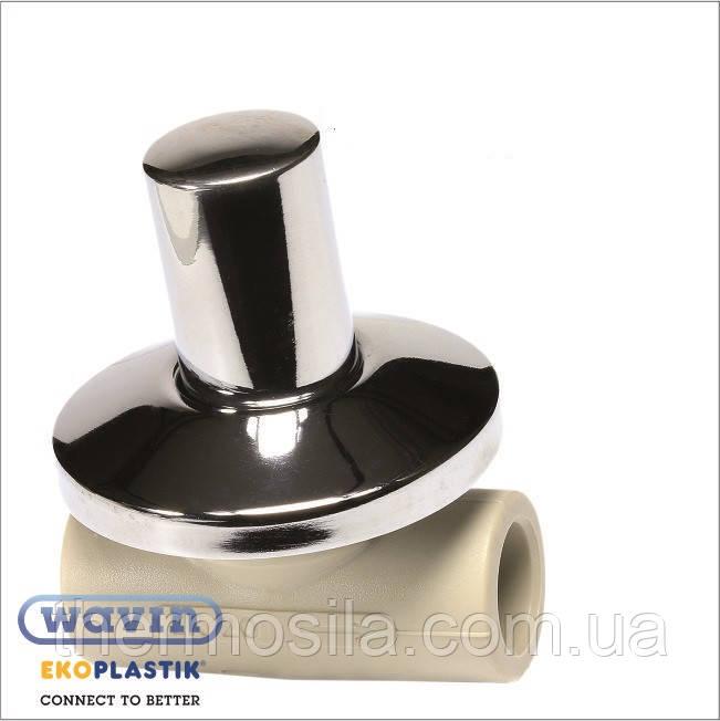 Вентиль под штукатурку 20 LUX с металлической крышкой , Ekoplastik