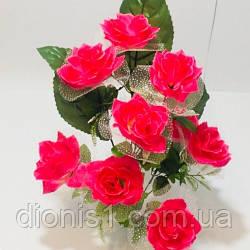 Букет роз с фатином на 9 голов 01707576