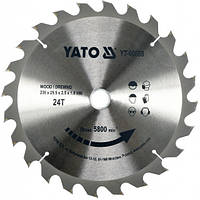 Пильный диск по дереву Yato YT-60668 235х25,4х24зуба