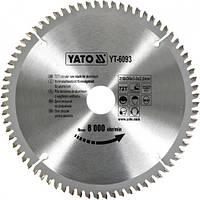 Пильный диск по алюминию Yato YT-6093 210х30х72зуба
