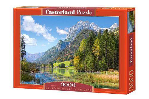 """Пазлы """"Озеро в Альпах"""", 3000 элементов (пейзаж, с пейзажем, природа, горы, горный пейзаж, с горами, лес, озеро, река)"""