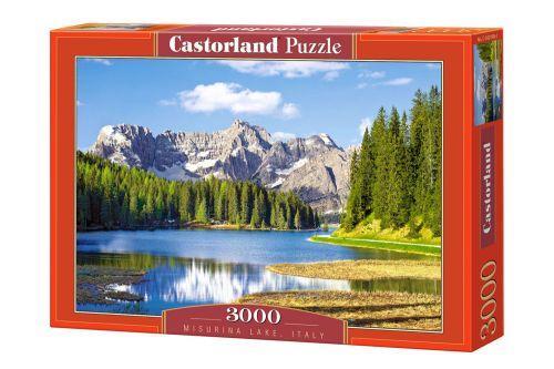 """Пазлы """"Озеро Мизурина, Италия"""", 3000 эл (пейзаж, с пейзажем, природа, горы, горный пейзаж, с горами, лес, озеро, река)"""