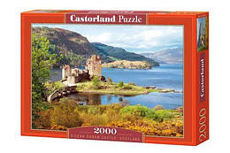 """Пазлы """"Замок Эйлеан Донан, Шотландия"""", 2000 эл (пейзаж, природа, архетектура, шотландия, старинный замок,"""